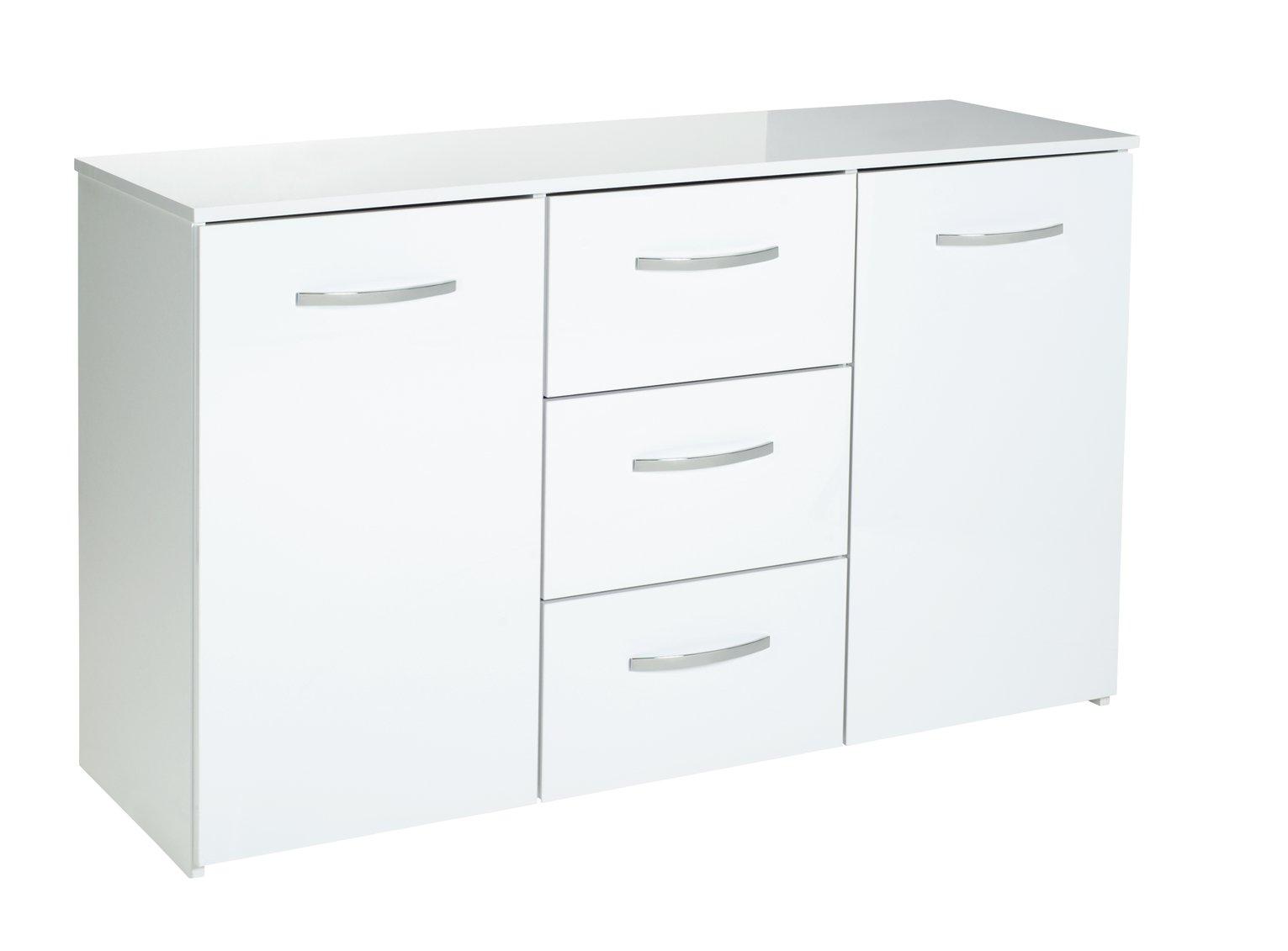 Argos Home Hayward 2 Door 3 Drawer Sideboard - White Gloss