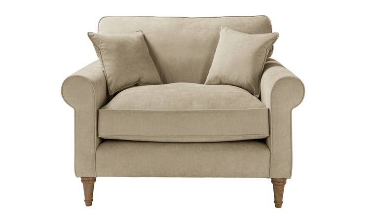 Habitat William Fabric Cuddle Chair - Natural