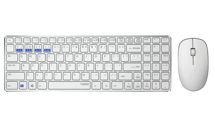 Rapoo 9300M Wireless Multi-Mode Mouse and Keyboard - White