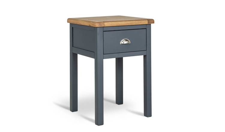Argos Home Kent 1 Drawer Bedside Table - Two Tone