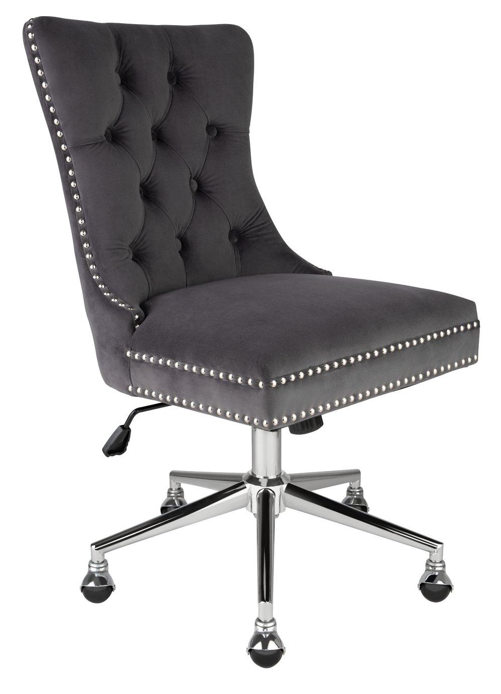 Argos Home Princess Velvet Handleback Office Chair - Grey