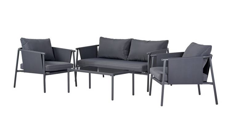 Argos Home Komoe Steel Sofa Set - Grey