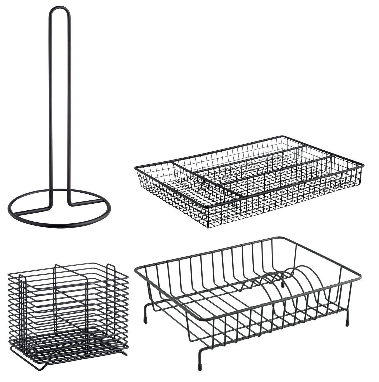 Habitat Nevin Metal Kitchen Equipment - Set of 4