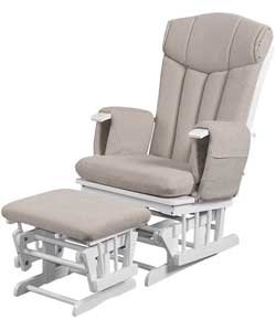 Nursing chairs and footstools