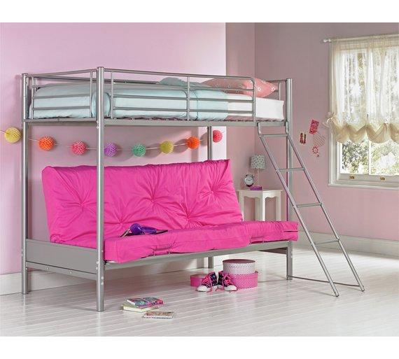 Buy Argos Home Metal Futon Bunk Bed With Kids Mattress Fuchsia