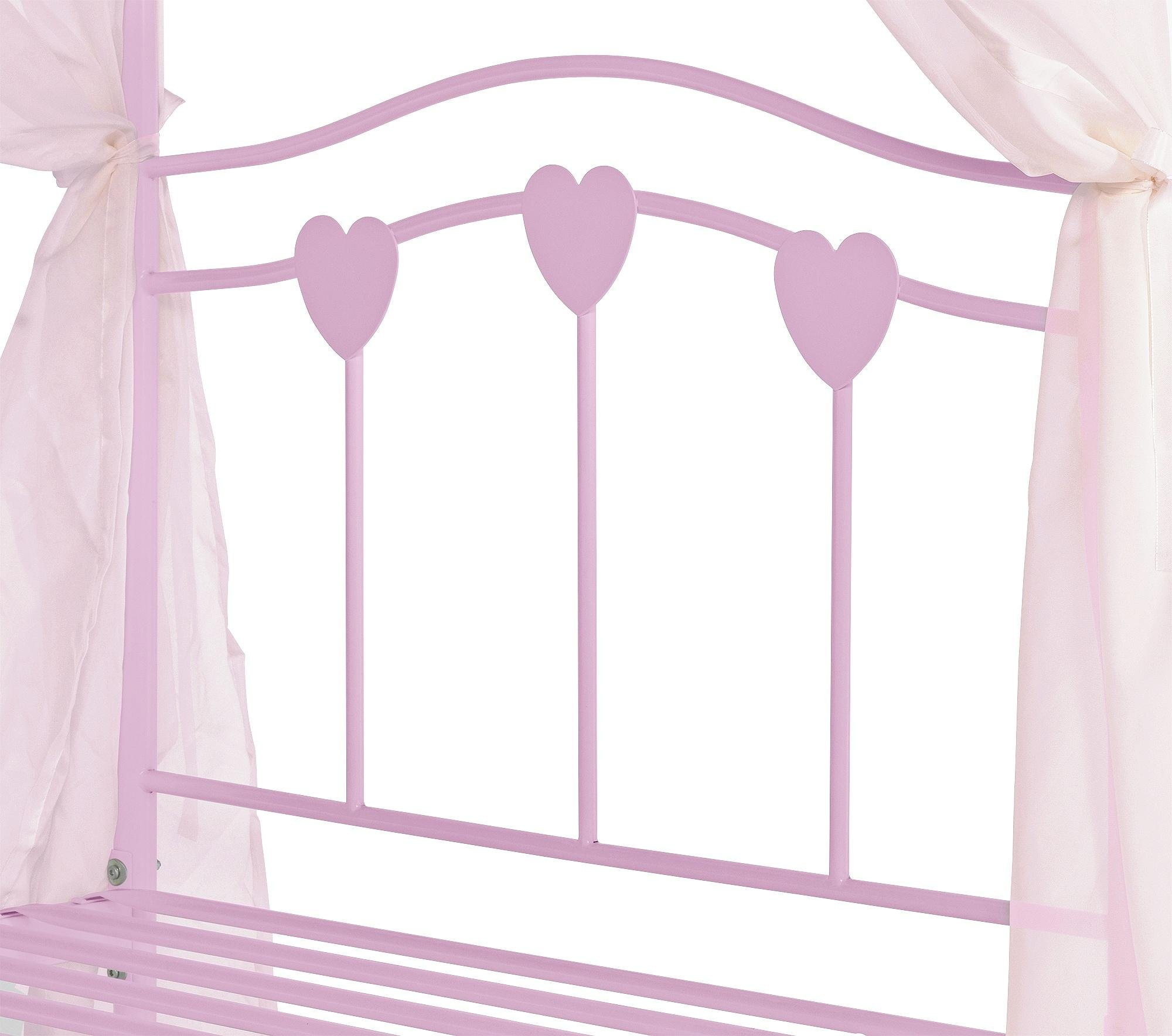 Pink 4 Poster Bed Buy Home Hearts Single 4 Poster Bed Frame  Pink At Argos.co.uk .