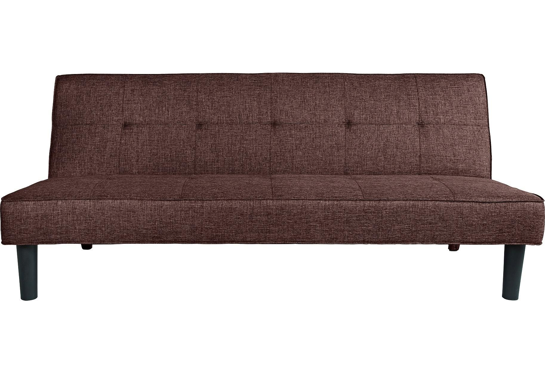 Habitat Patsy 2 Seater Fabric Clic Clac Sofa Bed - Brown