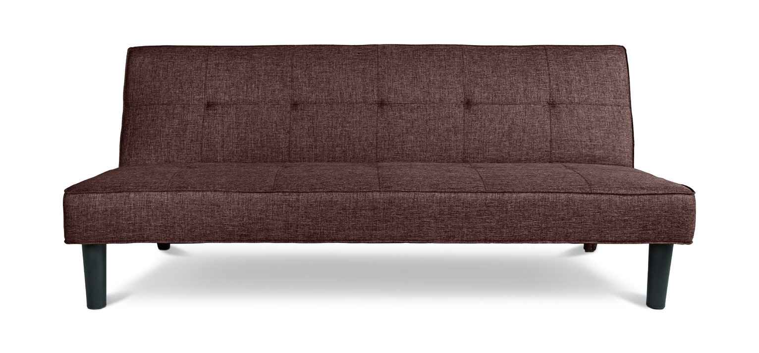Argos Home Patsy 2 Seater Fabric Clic Clac Sofa Bed - Brown