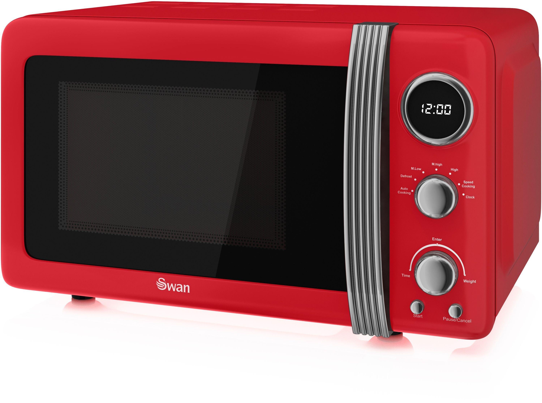 Swan - Standard Microwave -SM22030RN 20L 800W -Red
