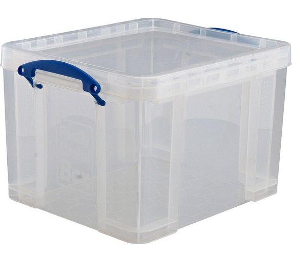 buy 35 litre really useful plastic storage box 3 boxes at your online shop for. Black Bedroom Furniture Sets. Home Design Ideas