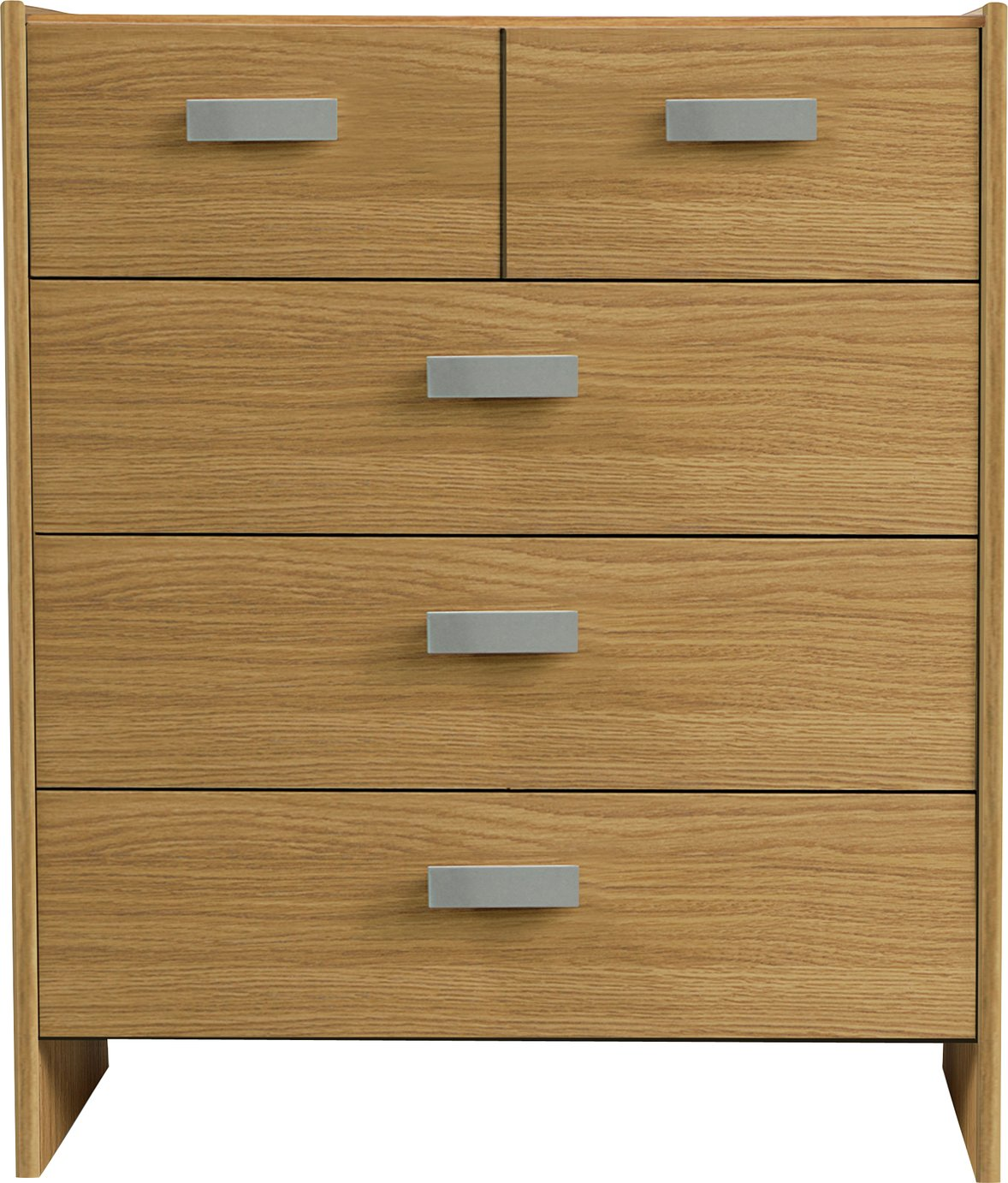 Argos Home New Capella 3+2 Drawer Chest - Oak Effect
