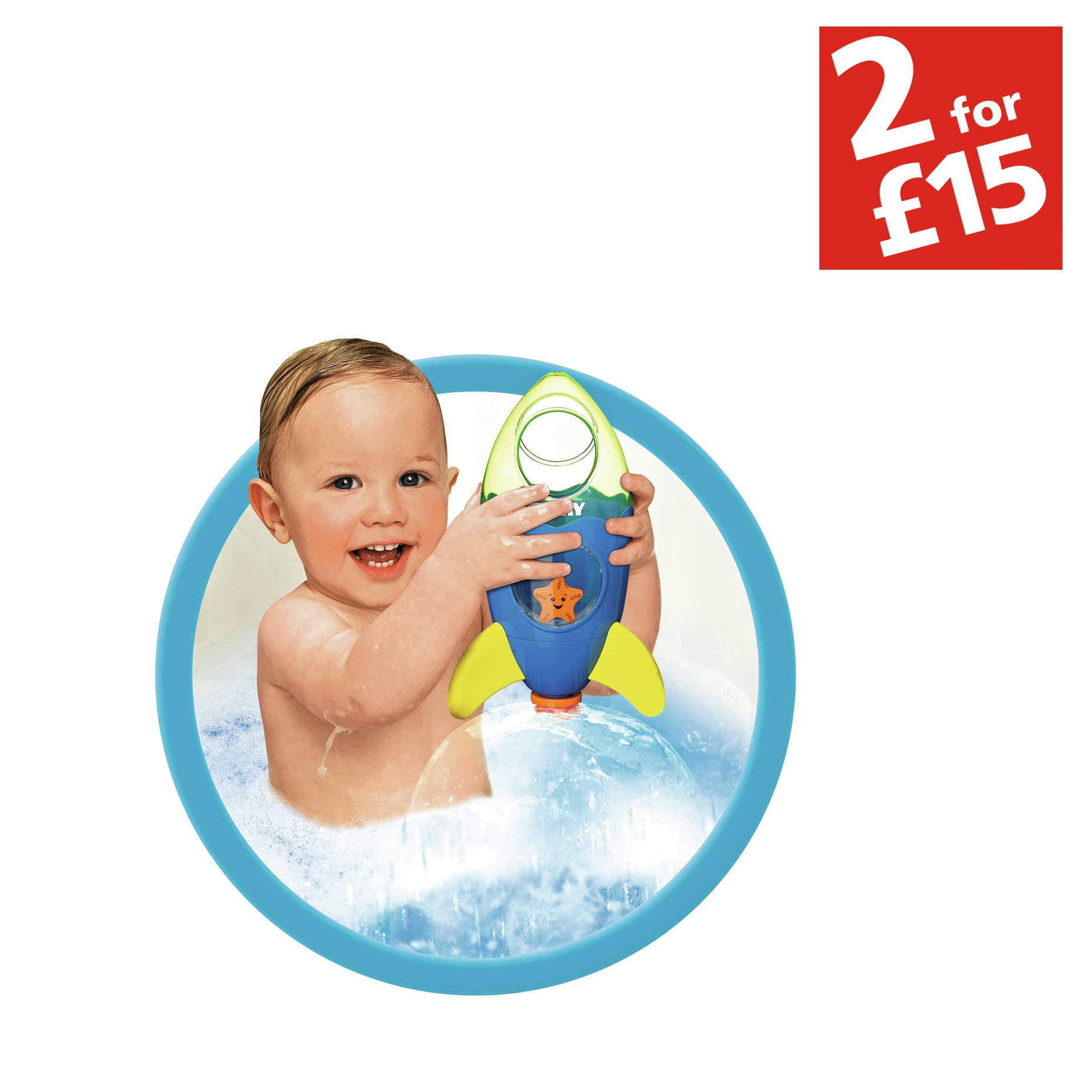Bath Toys Baby Bathing/Grooming New Tomy TOMY Bath Toys Fountain Rocket Toddler Childrens Bathtime Fun Toy 72357