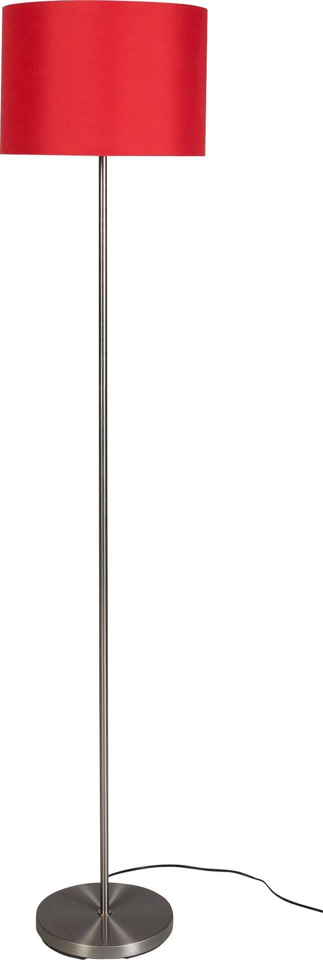 ColourMatch Satin Stick Floor Lamp - Poppy Red
