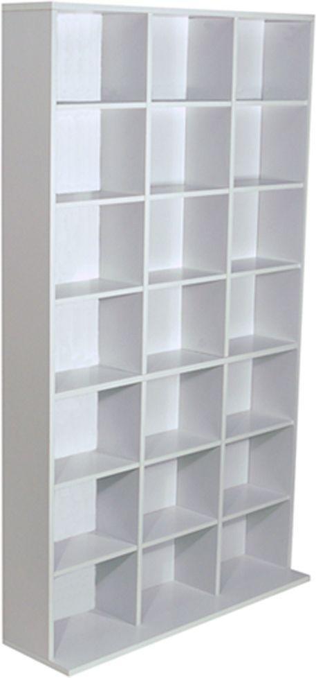 Pigeon Hole Media Storage Display   White