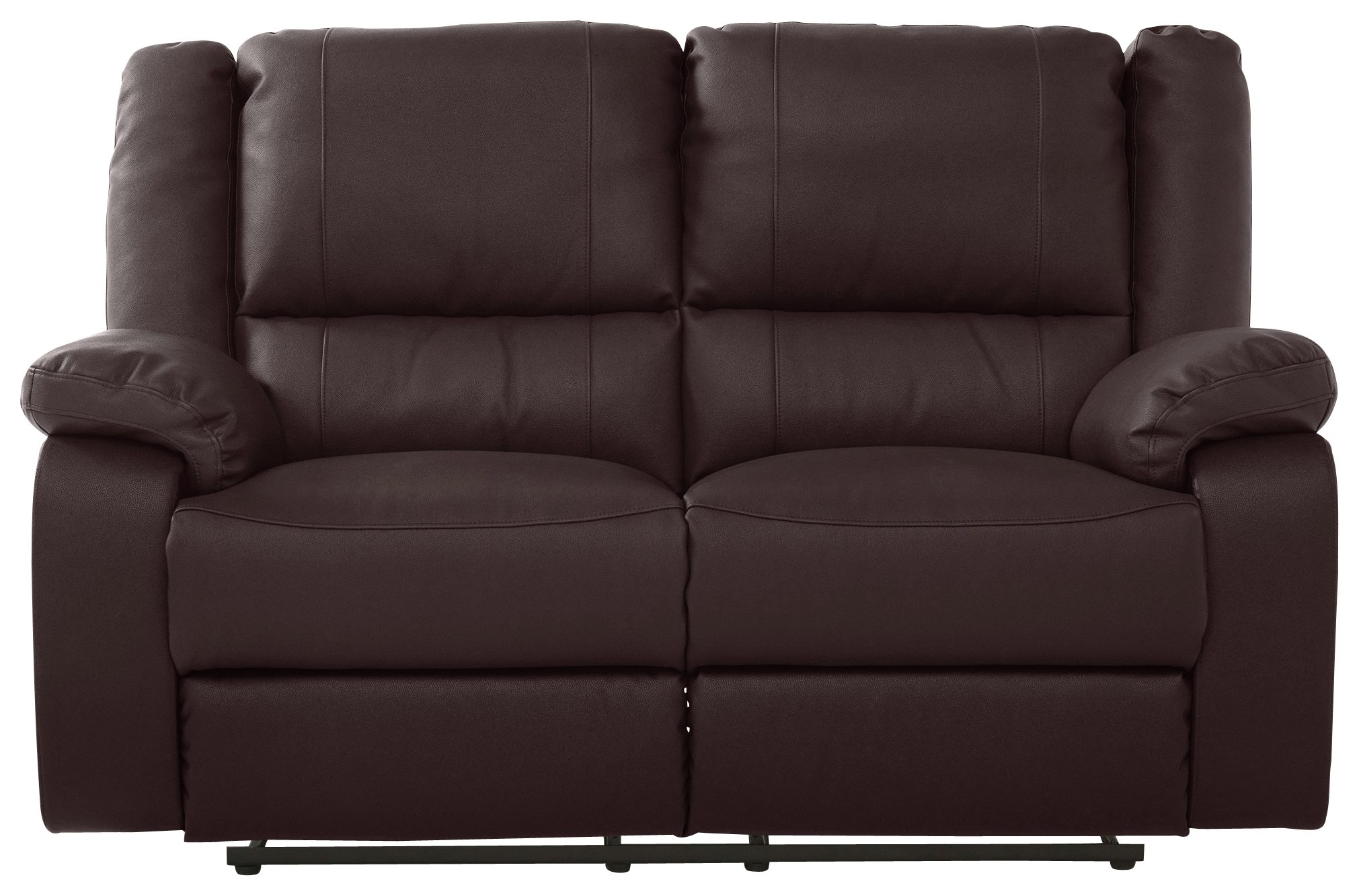 Argos Home - Bruno 2 Seater Manual Recliner Sofa - Chocolate