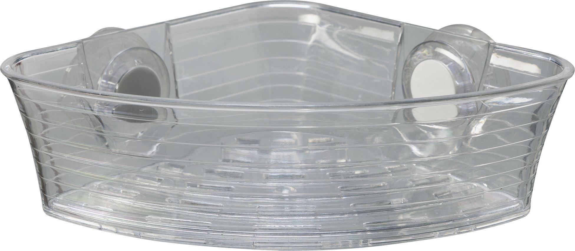 Croydex Press 'n' Lock 1.2 Litre Storage Basket - Clear