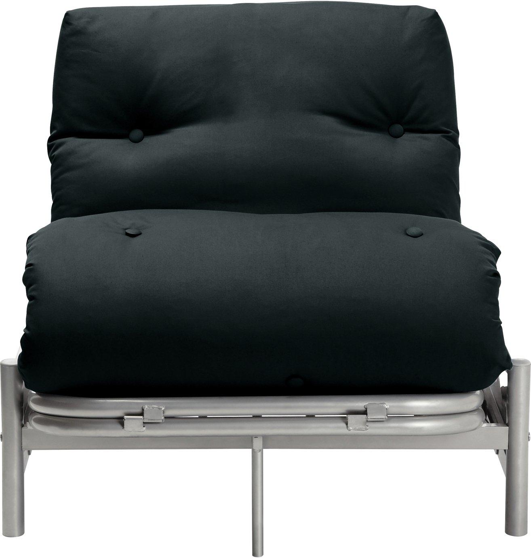 Argos Home Single Futon Metal Sofa Bed with Mattress - Black