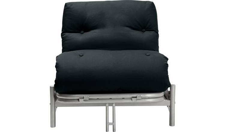 Buy Argos Home Single Futon Metal Sofa Bed with Mattress - Black   Sofa  beds   Argos