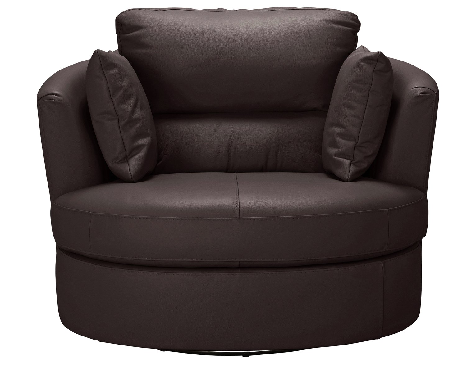 Argos Home Trieste Leather Swivel Chair - Dark Brown