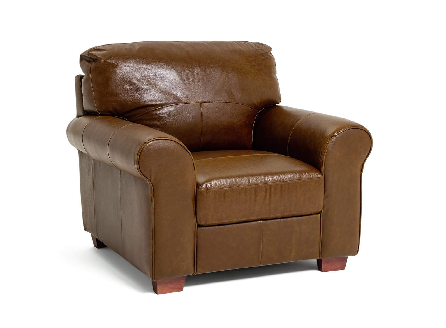 Argos Home Salisbury Leather Armchair - Tan
