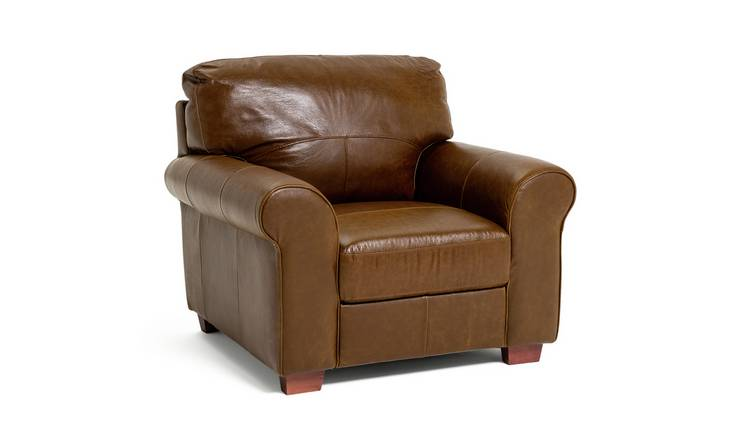Habitat Salisbury Leather Armchair - Tan
