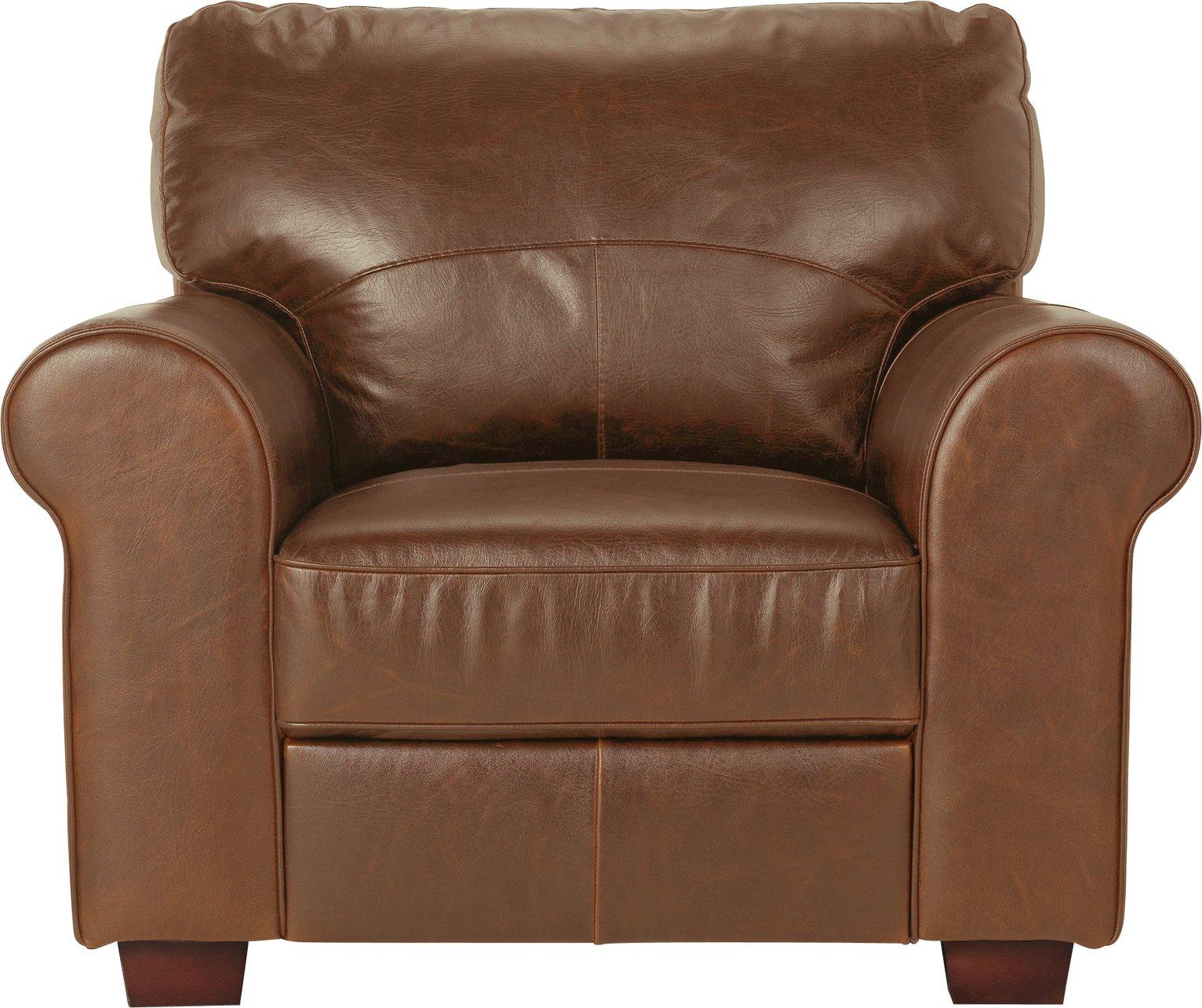 Argos Home Salisbury Leather Armchair - Tan