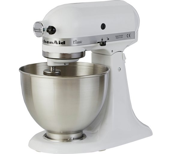 buy kitchenaid 5k45ssbwh classic stand mixer white at your online shop for stand. Black Bedroom Furniture Sets. Home Design Ideas