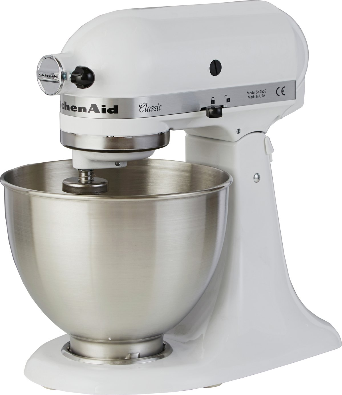 White Kitchenaid buy kitchenaid 5k45ssbwh classic stand mixer - white at argos.co