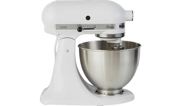 Buy Kitchenaid 5k45ssbwh Classic Stand Mixer White Stand Mixers Argos