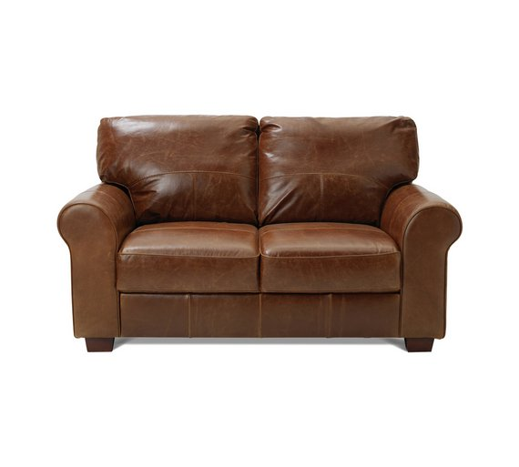 Heart of House Salisbury 2 Seater Leather Sofa - Tan331/4951 - Buy Heart Of House Salisbury 2 Seater Leather Sofa - Tan At Argos