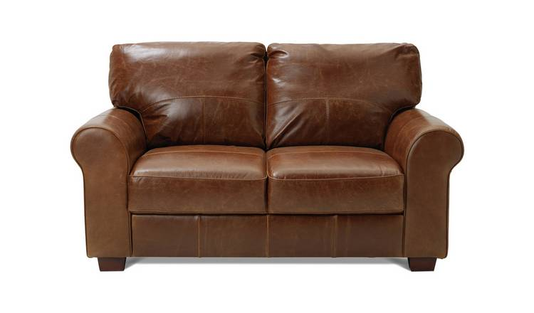 Buy Argos Home Salisbury 2 Seater Leather Sofa - Tan | Sofas | Argos