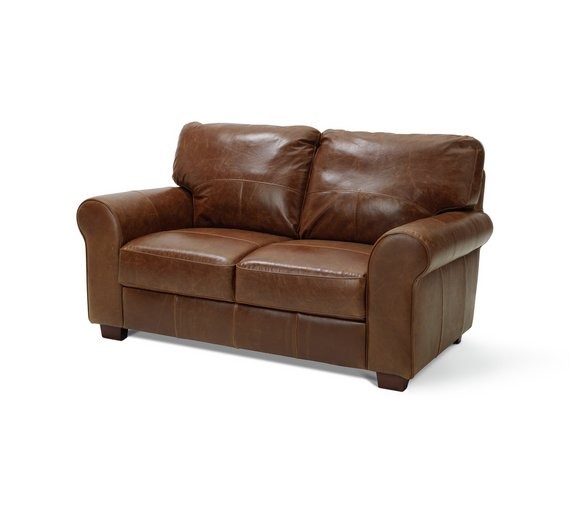 Buy heart of house salisbury 2 seater leather sofa tan for Tan couches for sale