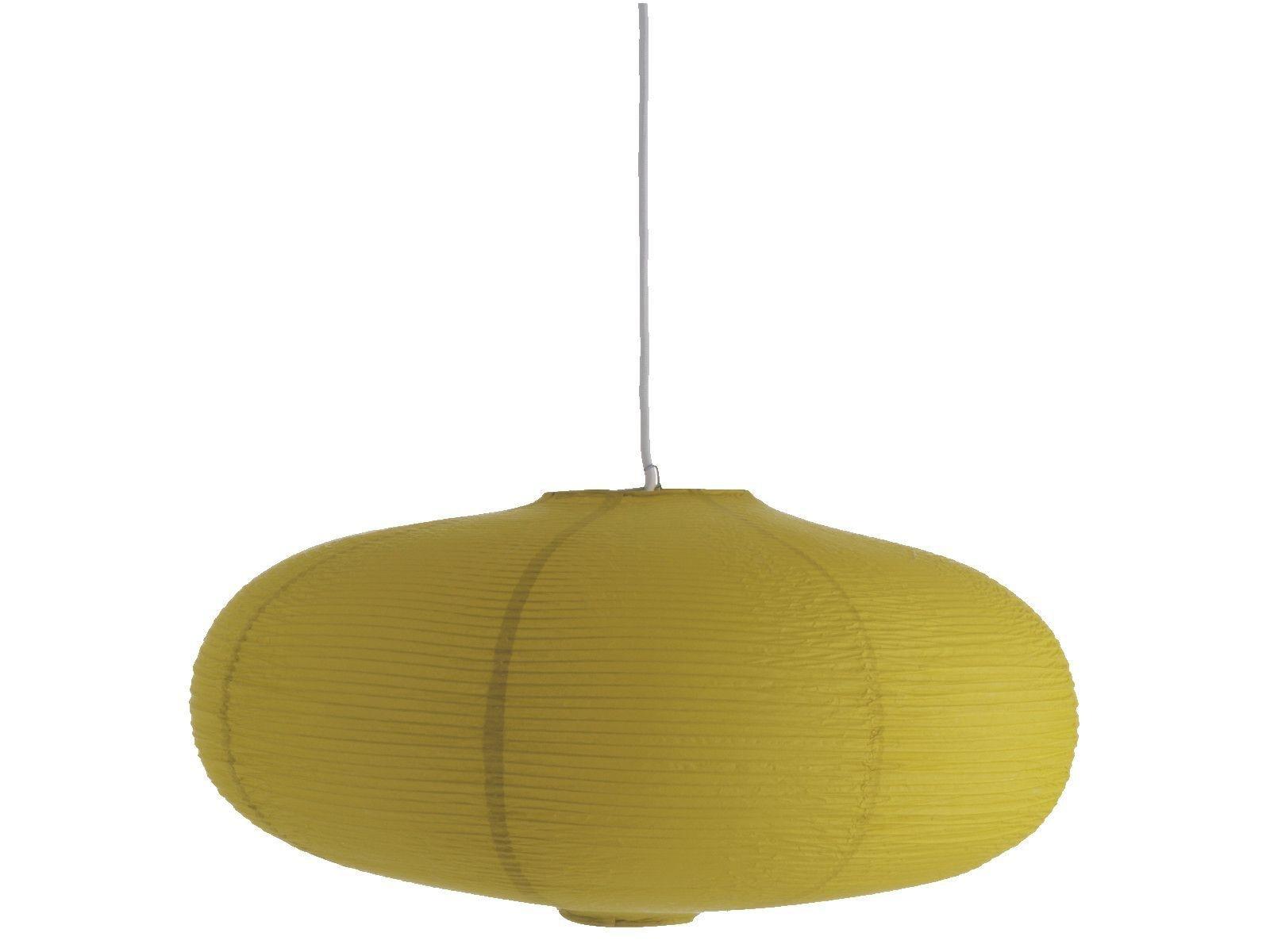 habitat-shiro-saffron-yellow-paper-pendant-shade