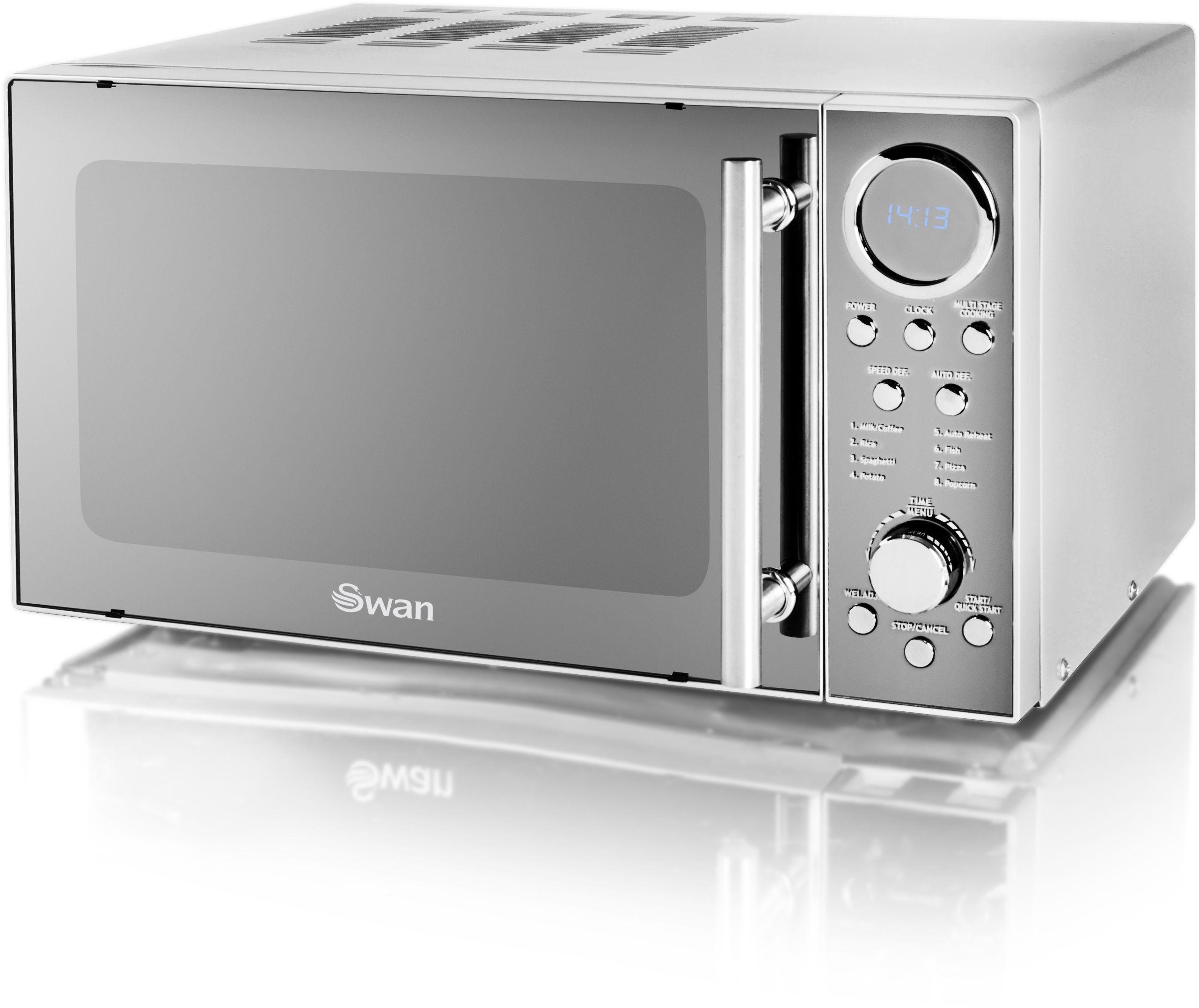 Swan SM3080N Standard Microwave - Chrome