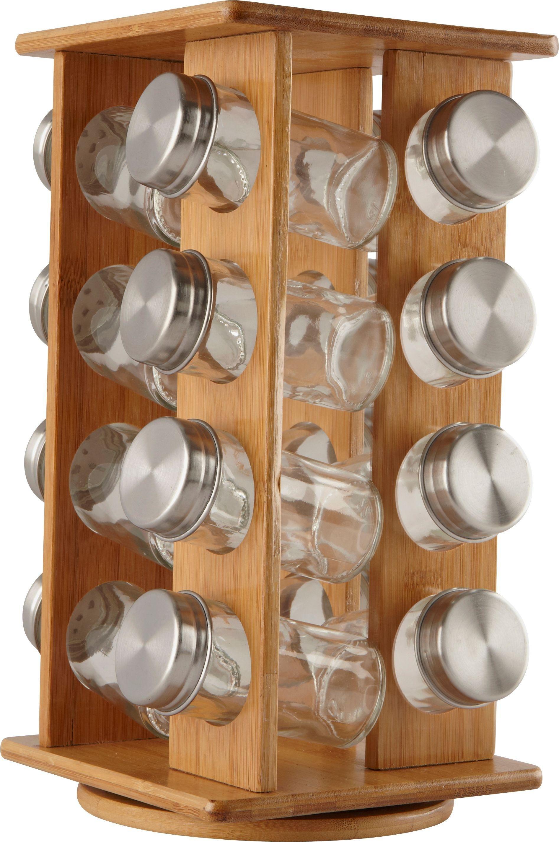 HOME - Wooden Revolving Spice Rack