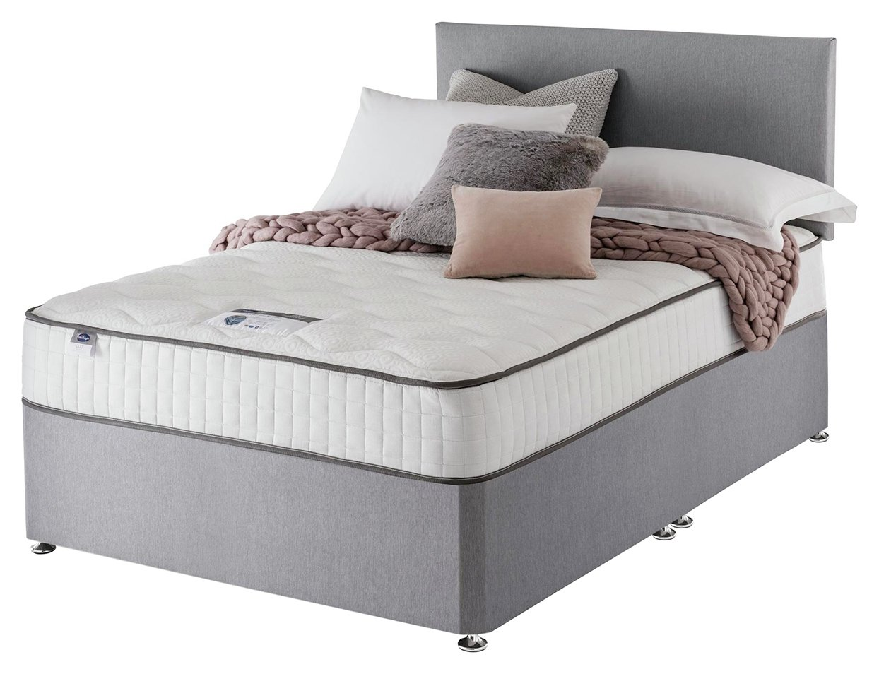 Silentnight Middleton 800 PKT Memory 0DRW Grey King Size