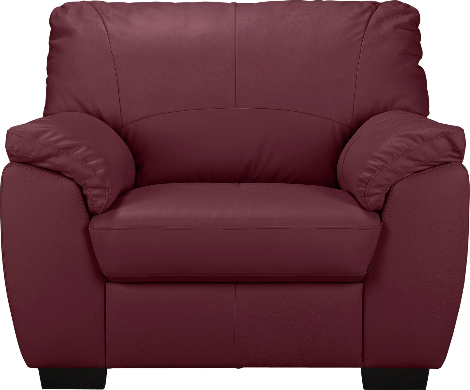 Argos Home Milano Leather Chair - Burgandy