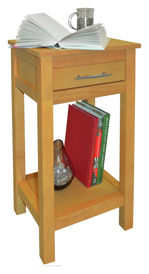 1 Drawer 1 Shelf Telephone Table - Natural Wood.