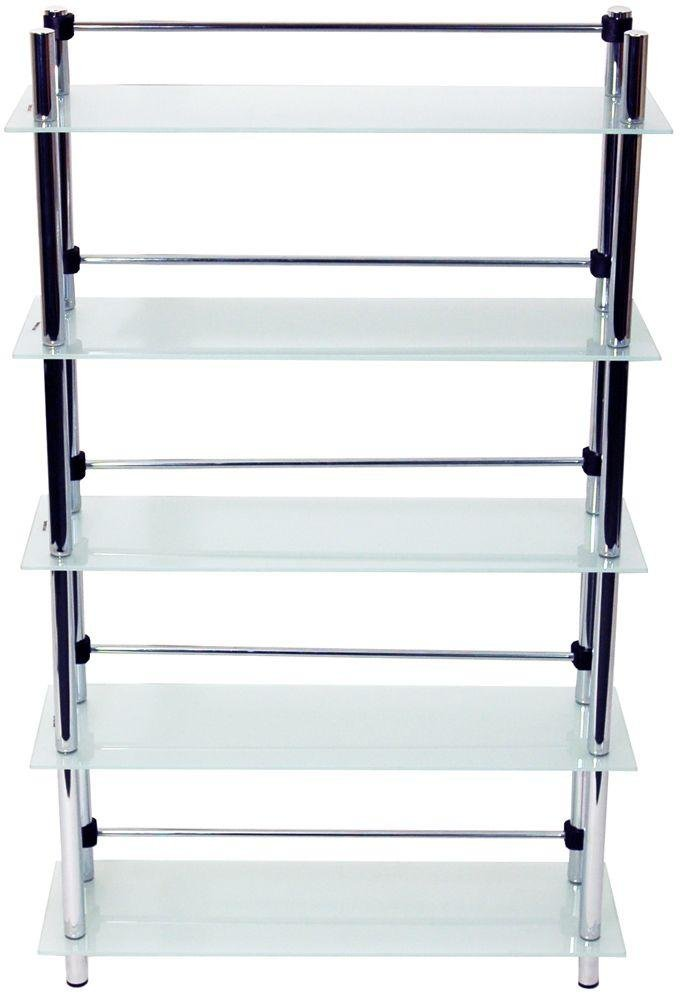 5 Tier CD and DVD Display Media Storage Shelf - Frosted