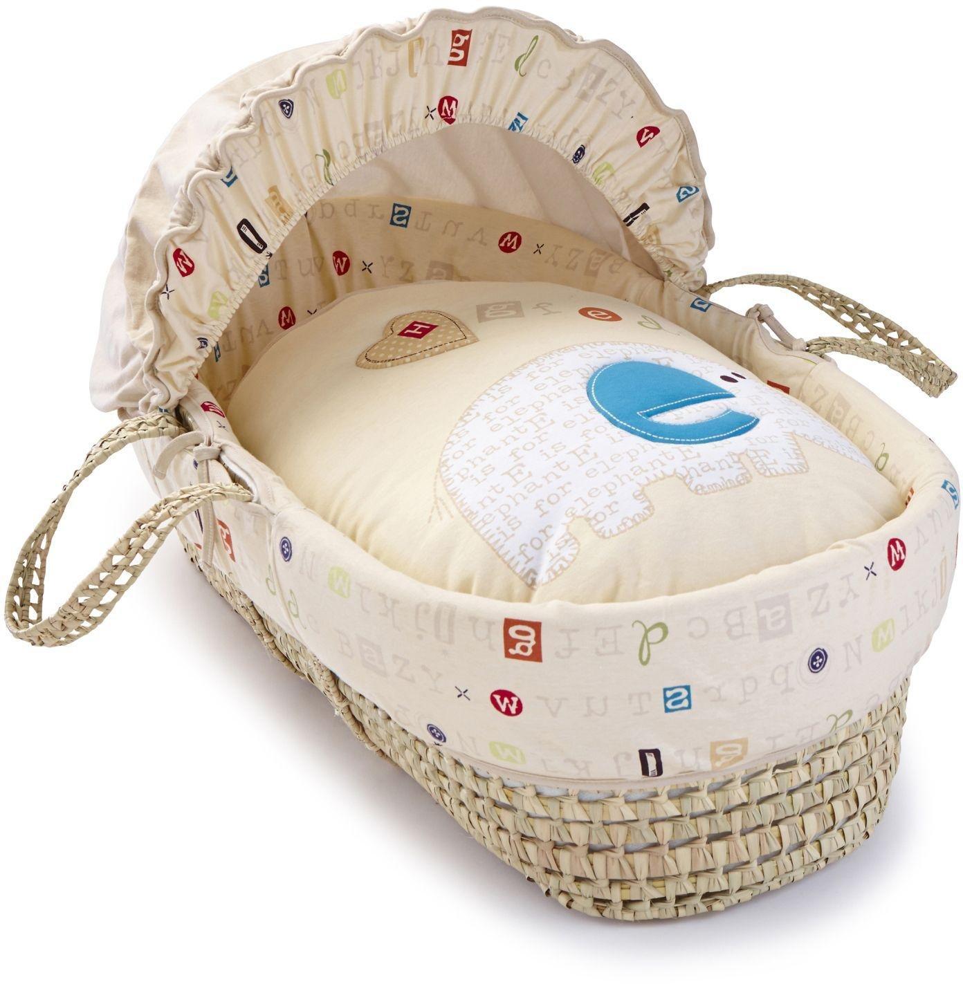 Image of Clair de Lune ABC Palm Moses Basket