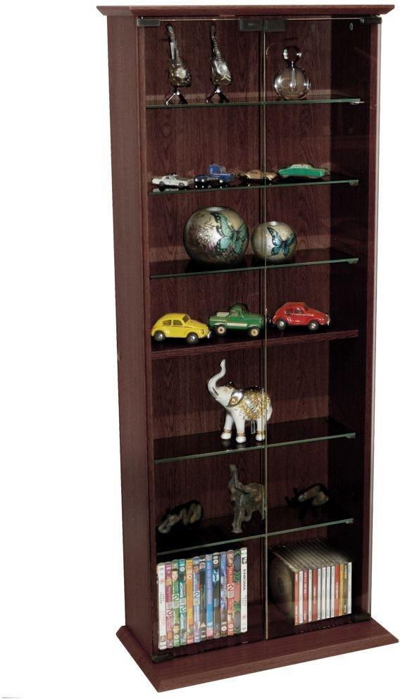Display Media Cabinet Storage - Dark Oak
