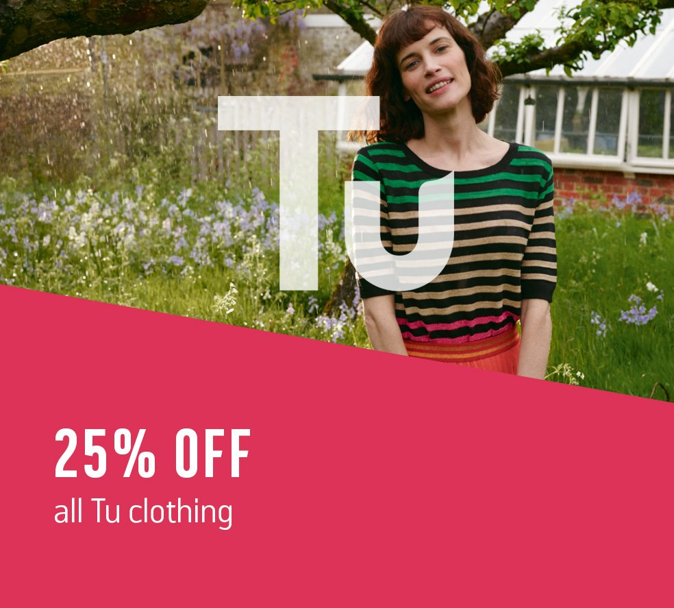 25% off all Tu clothing.