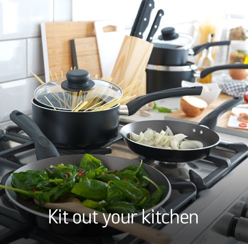 Kit out your kitchen.