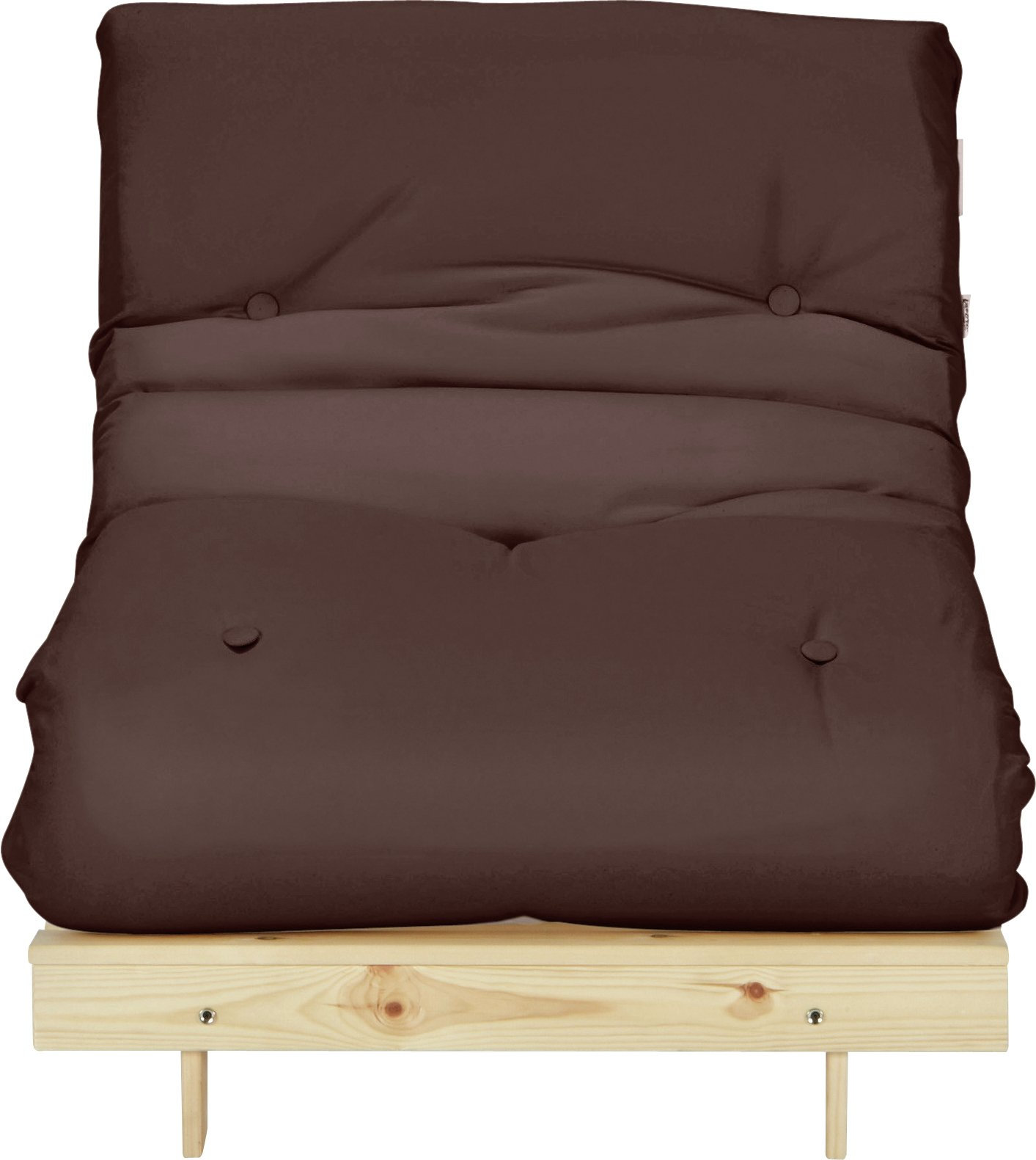Argos Home Single Futon Sofa Bed with Mattress - Chocolate