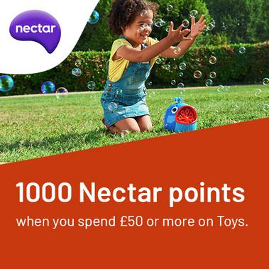 Collect 1000 bonus Nectar points when you spend £50 or more on toys.
