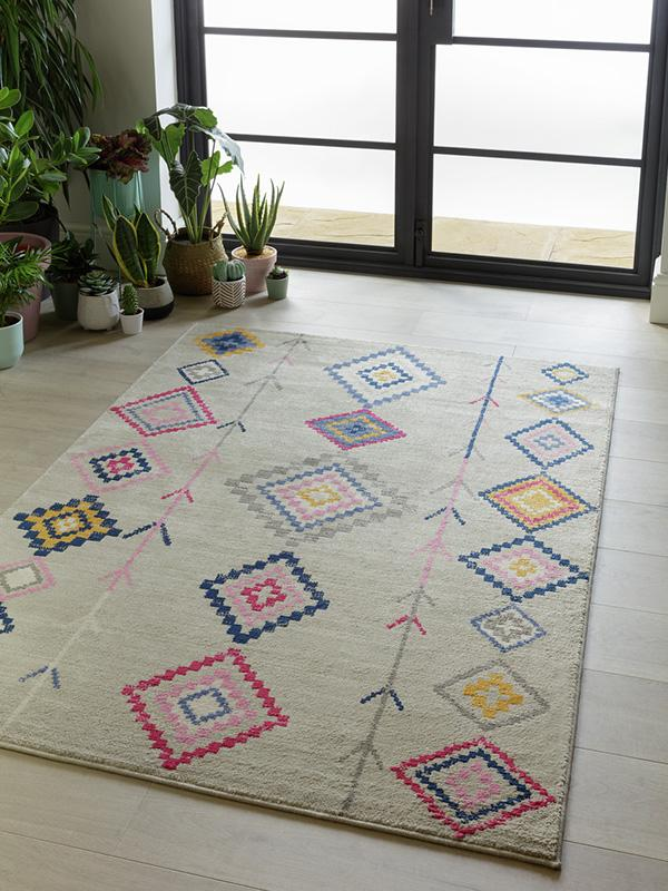 Argos Home Global Brights Berber rug - 120x170cm - multi.