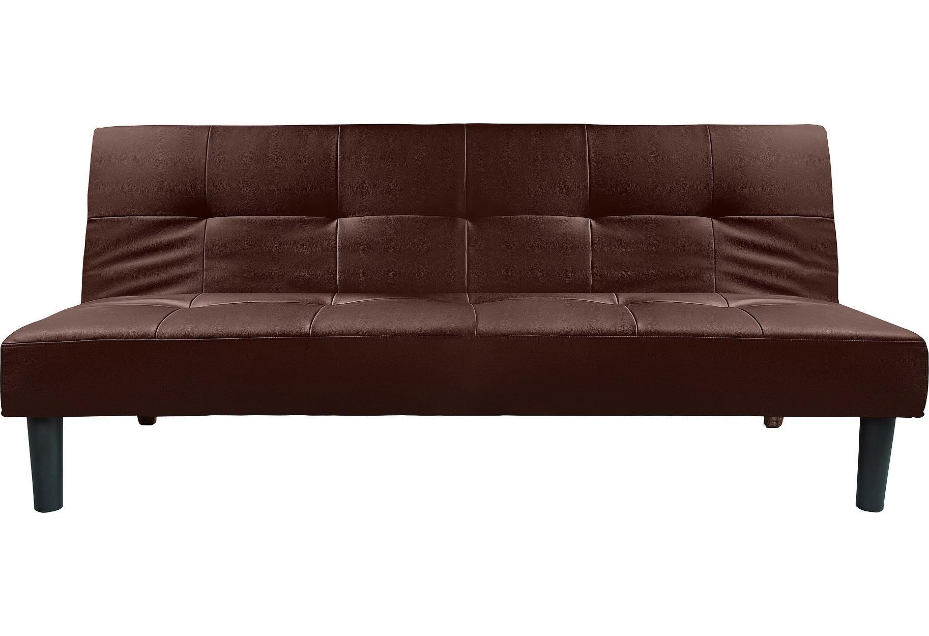Habitat Patsy 3 Seater Clic Clac Sofa Bed - Chocolate