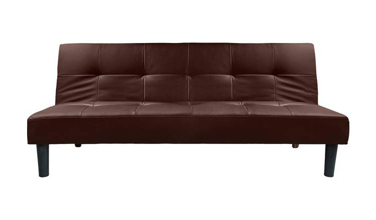 Argos Home Patsy 2 Seater Clic Clac Sofa Bed - Chocolate