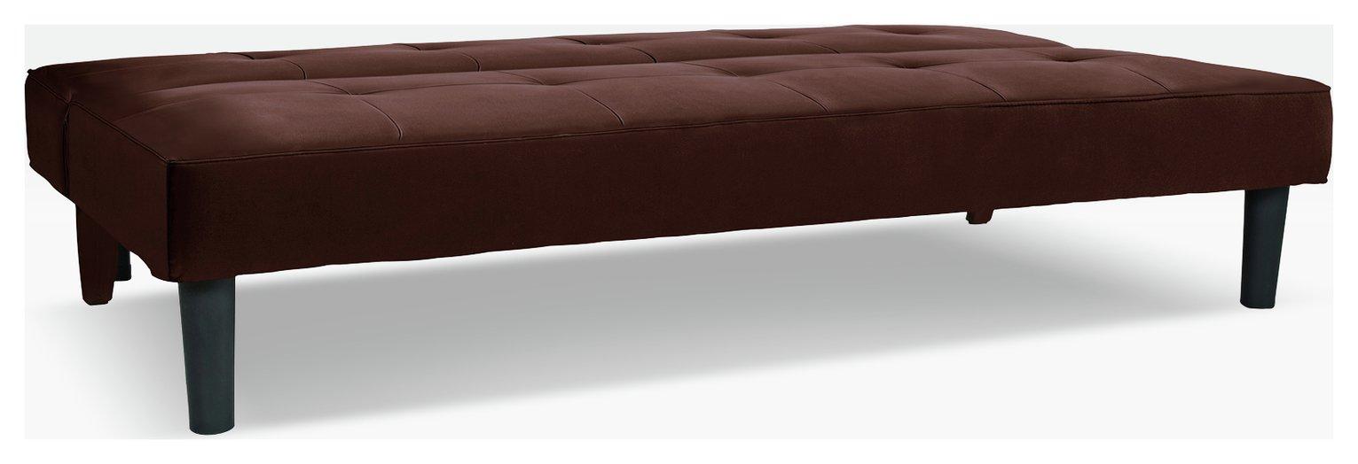 Argos Home Patsy 2 Seater Clic Clac Sofa Bed - Chocolate
