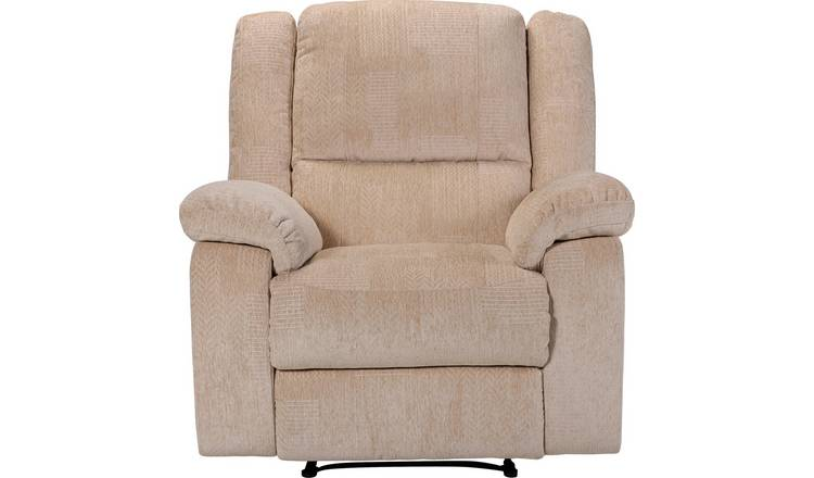 Argos Home Shelly Fabric Manual Recliner Chair - Beige